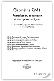 Jean-Luc Caron, André Michel - Géométrie CM1 : Reproduction, construction et description de figures aux éditions Retz